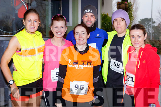 Attending the Optimal Fitness 5 & 10k run at the Rose Hotel on New Years Eve morning, l-r, Helen Tangsley (Tralee), Fiona O'Connor (Tralee), Cathy Jordan (Tralee), Timmy Dowd (Tralee), Jill St John Harrington (Tralee) and Ann Kelliher (Blennerville).