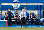 Queen of the South v St Johnstone&hellip;18.08.18&hellip;  Palmerston    BetFred Cup<br />Gary Naysmith shouts instructions<br />Picture by Graeme Hart. <br />Copyright Perthshire Picture Agency<br />Tel: 01738 623350  Mobile: 07990 594431