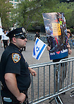 Demonstration pro Israel at NY on Gaza War