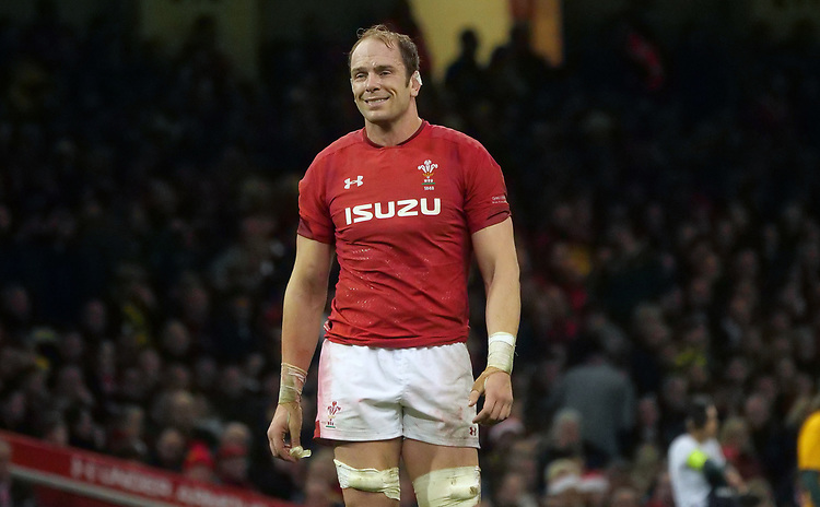 Wales' Alun Wyn-Jones during the game <br /> <br /> Photographer Ian Cook/CameraSport<br /> <br /> Under Armour Series Autumn Internationals - Wales v South Africa - Saturday 24th November 2018 - Principality Stadium - Cardiff<br /> <br /> World Copyright © 2018 CameraSport. All rights reserved. 43 Linden Ave. Countesthorpe. Leicester. England. LE8 5PG - Tel: +44 (0) 116 277 4147 - admin@camerasport.com - www.camerasport.com