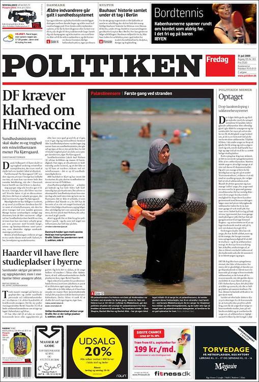 Politiken, Denmark - July 31, 2009