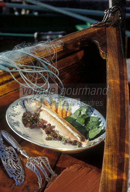 Europe/France/Rhône-Alpes/74/Haute-Savoie/Annecy: Omble-Chevalier aux carottes au miel - Recette de Marc Veyrat