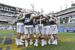 30 MAY 2016: Players for the University of North Carolina get ready for the University of Maryland during the Division I Men's Lacrosse Championship held at Lincoln Financial Field in Philadelphia, PA. Larry French/NCAA Photos