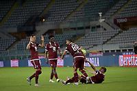 16th July 2020; Olympic Grande Torino Stadium, Turin, Piedmont, Italy; Serie A Football, Torino versus Genoa; Torino players celebrate their win