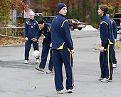 Nils Andersson (Sweden - 3), Ludvig Rensfeldt (Sweden - 23) - The Merrimack College Warriors defeated the visiting Sweden Under 20 team 4-1 on Tuesday, November 2, 2010, at Lawler Arena in North Andover, Massachusetts.
