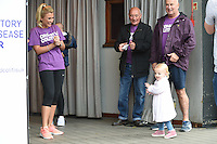 Billie Faiers and daughter, Nelly<br /> at the launch WALK IT London for Crohn&rsquo;s &amp; Colitis UK charity walk, Embankment, London.<br /> <br /> <br /> &copy;Ash Knotek  D3128  04/06/2016