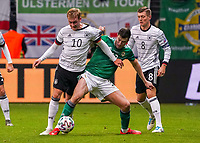 Julian Brandt (Deutschland Germany) gegen Josh Magennis (Nordirland, Northern Ireland) - 19.11.2019: Deutschland vs. Nordirland, Commerzbank Arena Frankfurt, EM-Qualifikation DISCLAIMER: DFB regulations prohibit any use of photographs as image sequences and/or quasi-video.