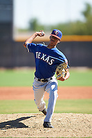 Texas Rangers pitcher Jean Casanova (22) during an Instructional League game against the Cincinnati Reds on October 4, 2016 at the Surprise Stadium Complex in Surprise, Arizona.  (Mike Janes/Four Seam Images)