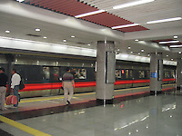 The subways were sparkling clean before the 2008 Olympics in Beijing