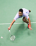 Chou Tien Chen of Taiwan compete during the Semi Final of the Yonex Open Chinese Taipei 2015 at the Taipei Arena on 18 July 2015 in Taipei, Taiwan. Photo by Aitor Alcalde / Power Sport Images