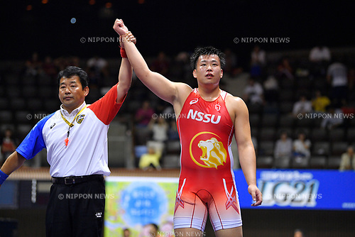 &sect;&trade;/Yuta Nara, <br /> JUNE 16, 2017 - Wrestling : <br /> Meiji Cup All Japan Invitational Wrestling Championships 2017 <br /> Men's Greco-Roman -98kg Final <br /> at 2nd Yoyogi Gymnasium, Tokyo, Japan. <br /> (Photo by MATSUO.K/AFLO)