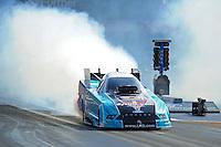 Jun. 15, 2012; Bristol, TN, USA: NHRA funny car driver Tim Wilkerson during qualifying for the Thunder Valley Nationals at Bristol Dragway. Mandatory Credit: Mark J. Rebilas-
