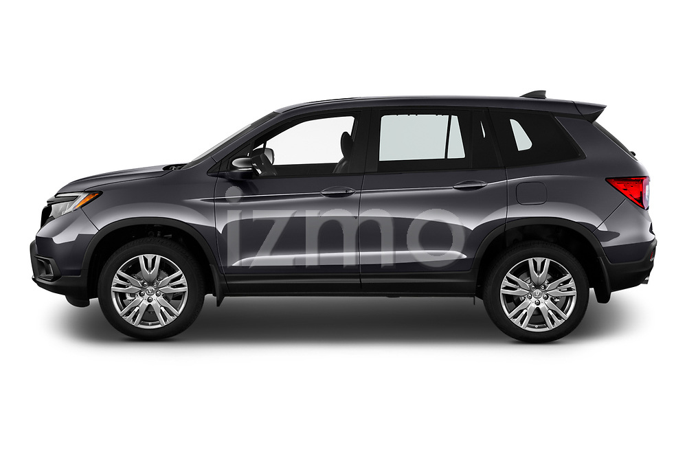 Car Driver side profile view of a 2019 Honda Passport EX-L 5 Door SUV Side View