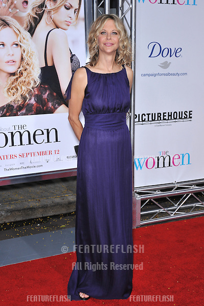 "Meg Ryan at the Los Angeles premiere of her new movie ""The Women"" at Mann Village Theatre, Westwood..September 4, 2008  Los Angeles, CA.Picture: Paul Smith / Featureflash"