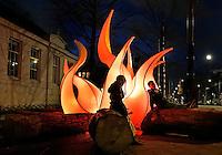 Amsterdam Light Festival. Lichtkunst. Kunstwerk : Camp-Fire