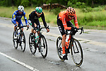 Alessandro De Marchi (ITA) CCC Team, Gregor Mühlberger (AUT) Bora-Hansgrohe and Julian Alaphilippe (FRA) Deceuninck-Quick Step the breakaway during Stage 6 of the Criterium du Dauphine 2019, running 229km from Saint-Vulbas - Plaine de l'Ain to Saint-Michel-de-Maurienne, France. 14th June 2019.<br /> Picture: ASO/Alex Broadway | Cyclefile<br /> All photos usage must carry mandatory copyright credit (© Cyclefile | ASO/Alex Broadway)