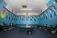 general view of the Wycombe changing room during the Sky Bet League 2 match between Wycombe Wanderers and Crawley Town at Adams Park, High Wycombe, England on 25 February 2017. Photo by Andy Rowland / PRiME Media Images.