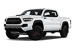 Stock pictures of low aggressive front three quarter view of a 2019 Toyota Tacoma TRD Pro 4 Door Pick Up