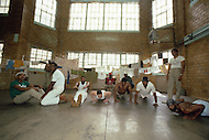 New Jersey, May 1981. State Prison of Rahway, New Jersey. This is what we can call a traditional State Prison generally overcrowded. A lot of inmates are sharing some dorms. Very few enjoyed some privacy. The leisure time is general ly spent in gym.