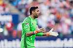Goalkeeper Salvatore Sirigu of Osasuna reacts during the La Liga match between Atletico de Madrid vs Osasuna at Estadio Vicente Calderon on 15 April 2017 in Madrid, Spain. Photo by Diego Gonzalez Souto / Power Sport Images