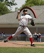 June 21, 2004:  Pitcher David Humen of the Jamestown Jammers, Single-A NY-Penn League affiliate of the Florida Marlins, during a game at Dwyer Stadium in Batavia, NY.  Photo by:  Mike Janes/Four Seam Images