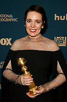 Beverly Hills, CA - JAN 06:  Olivia Colman attends the FOX, FX, and Hulu 2019 Golden Globe Awards After Party at The Beverly Hilton on January 6 2019 in Beverly Hills CA. <br /> CAP/MPI/IS/CSH<br /> &copy;CSHIS/MPI/Capital Pictures