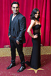 © Licensed to London News Pictures . 16/05/2015 .  The Palace Hotel , Manchester , UK . Pasha Bocarie and Fiona Wade . The red carpet at the 2015 British Soap Awards , The Palace Hotel , Oxford Road , Manchester . Photo credit : Joel Goodman/LNP