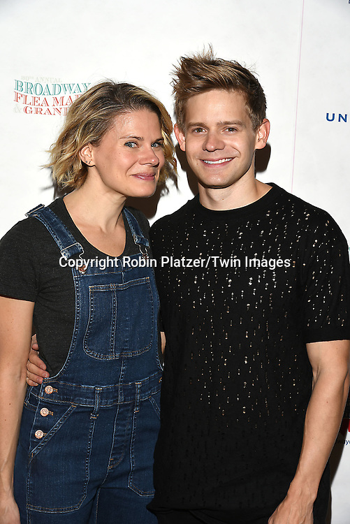 Celia Keenan-Bolger and Andrew Keenan-Bolger attends the Broadway Cares/Equity Fights Aids Flea Market and Grand Auction on September 25, 2016 at the Music Box Theatre and in Shubert Ally in New York, New York, USA. <br /> <br /> photo by Robin Platzer/Twin Images<br />  <br /> phone number 212-935-0770