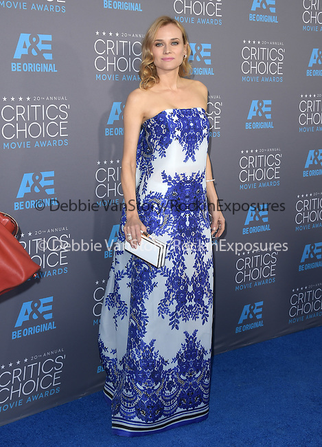 Diane Kruger attends The 20th ANNUAL CRITICS' CHOICE AWARDS held at The Hollywood Palladium Theater  in Hollywood, California on January 15,2015                                                                               © 2015 Hollywood Press Agency