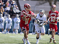 Washington, DC - March 31, 2018: Denver Pioneers Joe Reid (12) attempts a shot during game between Denver and Georgetown at  Cooper Field in Washington, DC.   (Photo by Elliott Brown/Media Images International)