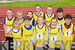 The Ballymac Team at the Kerry community games athlethics finals at an Riocht, Castleisland on Saturday..From left: Dara Broderick, Samantha Knightly, Aisling O'Connell, Brian Godley, Aine Rice, Amy Wharton, Emily O'Brien, Rececca Aherne, Laura Daly, Eoin Culloty, and Cathal Culloty.