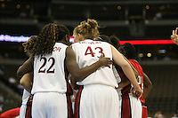 18 March 2006: Kristen Newlin and Eziamaka Okafor during Stanford's 72-45 win over Southeast Missouri State in the first round of the NCAA Women's Basketball championships at the Pepsi Center in Denver, CO.