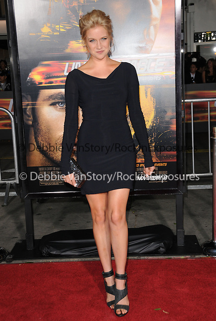 Jessy Schram attends the Twentieth Century Fox's L.A. Premiere of Unstoppable held at Regency Village Theater in Westwood, California on October 26,2010                                                                               © 2010 Hollywood Press Agency
