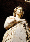 Statue of Arete (virtue or excellence) in the Library of Celsus in Ephesus, Turkey. See Phillipians 4:8