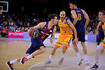 League ACB-ENDESA 2017/2018 - Game: 12.<br /> FC Barcelona Lassa vs Herbalife Gran Canaria: 77-88.<br /> Thomas Heurtel vs Albert Oliver.