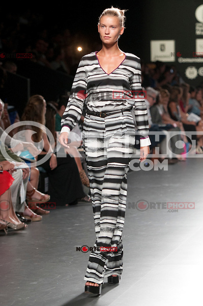 Cibeles catwalk with fashion show of Angel Schlesser  on Agost 31th 2012...Photo:  (ALTERPHOTOS/Ricky) /NortePhoto.com<br /> <br /> **CREDITO*OBLIGATORIO** <br /> *No*Venta*A*Terceros*<br /> *No*Sale*So*third*<br /> *** No*Se*Permite*Hacer*Archivo**<br /> *No*Sale*So*third*
