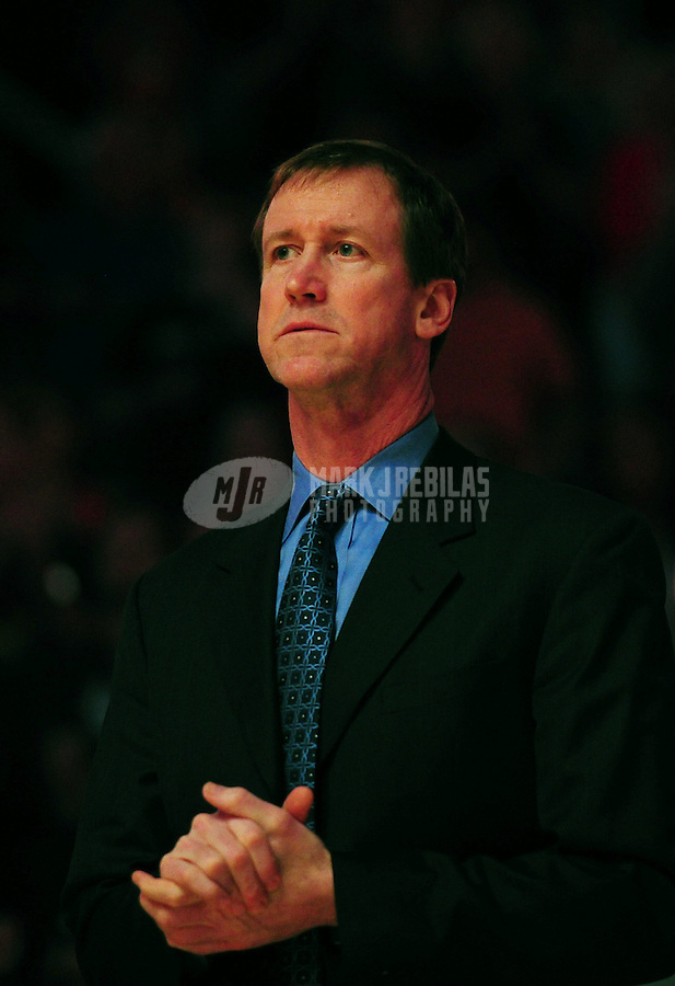 Mar. 27, 2011; Phoenix, AZ, USA; Dallas Mavericks assistant coach Terry Stotts against the Phoenix Suns at the US Airways Center. Mandatory Credit: Mark J. Rebilas-