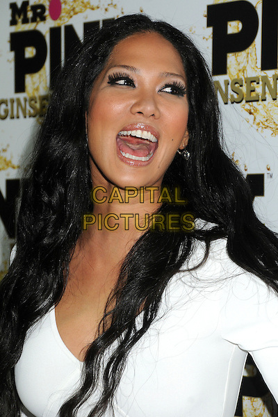 Kimora Lee Simmons.Mr. Pink Ginseng Drink Launch Party held at the Beverly Wilshire Hotel, Beverly Hills, California, USA..October 11th, 2012.headshot portrait funny white mouth open.CAP/ADM/BP.©Byron Purvis/AdMedia/Capital Pictures.