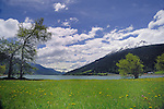 Clouds over Lake Resia, Italian/ Austrian border.
