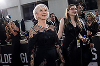 Helen Mirren attends the 75th Annual Golden Globes Awards at the Beverly Hilton in Beverly Hills, CA on Sunday, January 7, 2018.<br /> *Editorial Use Only*<br /> CAP/PLF/HFPA<br /> &copy;HFPA/PLF/Capital Pictures