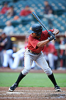 Arizona Diamondbacks Gabriel Maciel (4) during an Instructional League game against the Oakland Athletics on October 15, 2016 at Chase Field in Phoenix, Arizona.  (Mike Janes/Four Seam Images)