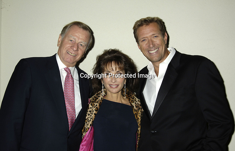 Helmet Huber, Susan Lucci and Walt Willey ..at ABC Casino Night on October 27, 2005 at The Lighthouse at Chelsea Piers. ..Photo by Robin Platzer, Twin Images