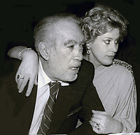 Anthony Quinn and wife Yolanda<br /> Circa 1980's<br /> Photo By Jesse Nash/PHOTOlink