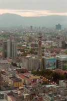 Skyline of Mexico City from Torre Latinoamericana.Skyline di città del messico dalla torre Latinoamericana