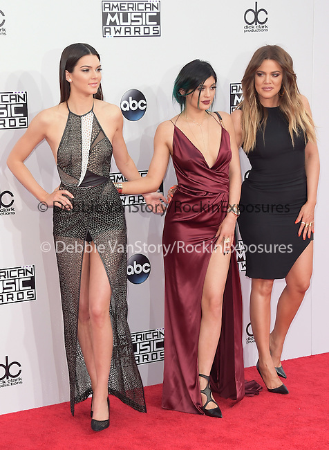 Kendall Jenner,Kylie Jenner, Khloe Kardashian at The 2014 American Music Award held at The Nokia Theatre L.A. Live in Los Angeles, California on November 23,2014                                                                               © 2014Hollywood Press Agency