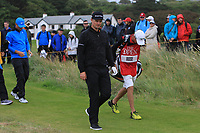 Justin Rose (ENG)  walking off the 12th tee during 1st round of the 148th Open Championship, Royal Portrush golf club, Portrush, Antrim, Northern Ireland. 18/07/2019.<br /> Picture Thos Caffrey / Golffile.ie<br /> <br /> All photo usage must carry mandatory copyright credit (© Golffile | Thos Caffrey)