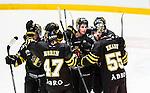 Stockholm 2014-09-11 Ishockey Hockeyallsvenskan AIK - S&ouml;dert&auml;lje SK :  <br /> AIK:s Victor Ekarv har firar sitt 2-0 m&aring;l med lagkamrater<br /> (Foto: Kenta J&ouml;nsson) Nyckelord:  AIK Gnaget Hockeyallsvenskan Allsvenskan Hovet Johanneshovs Isstadion S&ouml;dert&auml;lje SK SSK jubel gl&auml;dje lycka glad happy