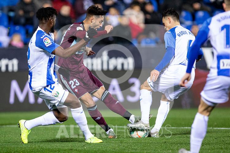 CD Leganes's  Chidozie Awaziem (L) and RC Celta de Vigo's Brais Mendez during La Liga match 2019/2020 round 16<br /> December 8, 2019.  <br /> (ALTERPHOTOS/David Jar)