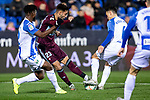 CD Leganes's  Chidozie Awaziem (L) and RC Celta de Vigo's Brais Mendez during La Liga match 2019/2020 round 16<br /> December 8, 2019.  <br /> (ALTERPHOTOS/David Jar)