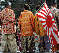 The annual Coming of Age ceremony in Tokyo Japan, 11th January, 2010. The annual ceremony celebrates the coming of age, when adolesant become adults, at age 20, and are allowed to drink vote, drink alhohol vote and smoke. The ceremony involves dressing up in traditional kimono for women and suit or robes for men, where they all meet at local town halls.